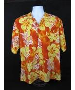 Local Motion Orange Tribal Yellow Hibiscus Hawa... - $19.00