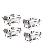 4 PACK CATERING CHAFER STAINLESS STEEL CHAFING DISH SETS 8 QT PARTY PACK... - $137.76