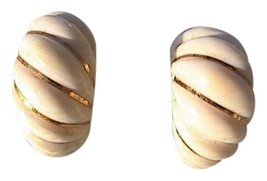 Vintage 585 Celluloid Clip On Earrings - $50.00