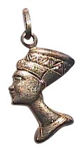 VINTAGE Italian 10K Yellow Gold Egyptian Queen Nefertiti Pendant - $100.00