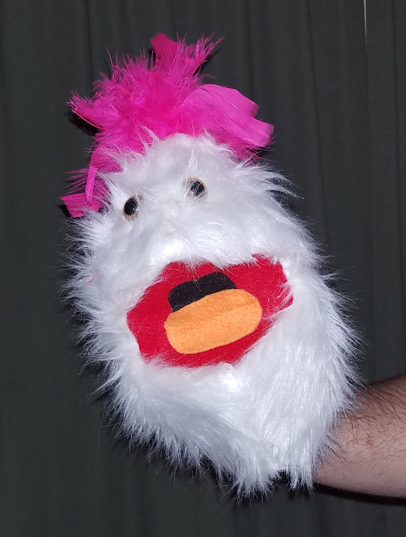 "Professional White ""FurGoblin"" w/Pink Hair Muppet Style Ventriloquist Puppet B12"