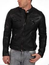 New Men's Genuine Lambskin Leather Motorcycle Jacket Slim fit Biker Jacket NF 2 - $69.29+