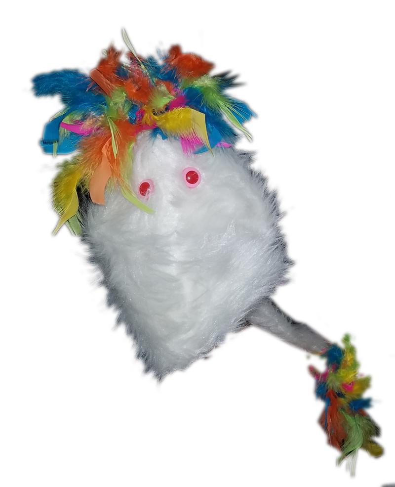 "Professional White ""FurGoblin"" w/Rainbow Muppet Style Ventriloquist Puppet * B13"