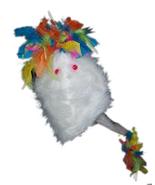 "Professional White ""FurGoblin"" w/Rainbow Muppet Style Ventriloquist Pupp... - $30.00"