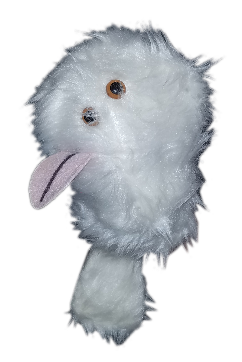 """B10 Professional White """"FurGremlin"""" Crazy Eyes Muppet Style Ventriloquist Puppet"""