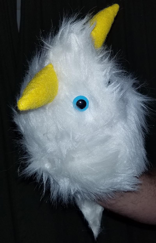 "B11 * Professional White ""Furgremlin"" w/Horns Muppet Style Ventriloquist Puppet"