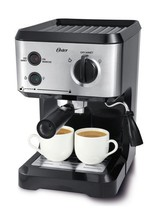Oster Stainless Steel 15 Bar Pressure Pump Espresso Maker Frother Machine - $169.99