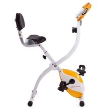 Exercise Bike Folding Compact Backrest Stable Quiet Moderate Workout LCD... - $166.48