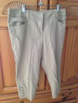 women's tan Capri pants by larry levine petite stretch size 10p - $24.99