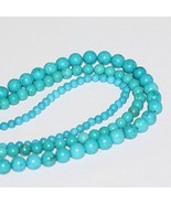 2 Strands X AAA Natural Turquoise 6mm Gemstone ... - $22.77