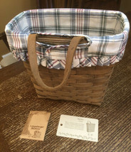 Longaberger Tall Key Basket with Loop with Liner Protector - $53.99