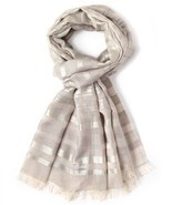 Echo New York Women's Silver Stripe Wrap - ₨6,131.78 INR