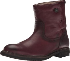 Frye Women's Mara Button Short Bordeaux Soft Classic Leather Boot 10 B (M) - $189.05