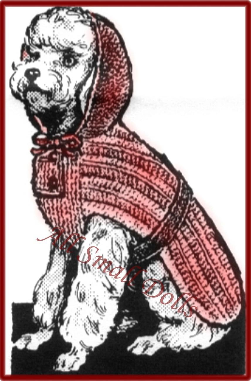 Dog's Knitted Coat Pattern Sizes 10,12,14,16 & 18