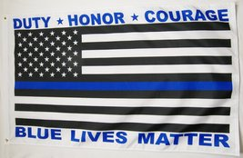 Police Blue Lives Matter USA Flag 3' X 5' Indoor Outdoor Banner - $9.95