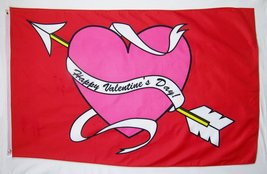 Happy Valentine's Day! Flag 3' X 5' Indoor Outdoor Banner - $10.95
