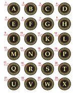 "Take any 4 1.25"" Handmade Pinback Button Badge Alphabets & Numbers (Apro... - $3.95"