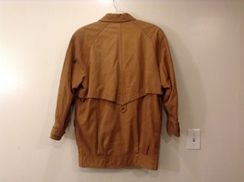 John Weitz Genuine Brown Old Fashioned Leather Jacket Sz L image 2