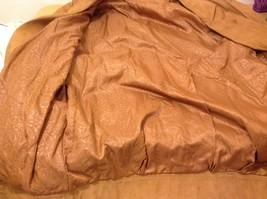 John Weitz Genuine Brown Old Fashioned Leather Jacket Sz L image 5