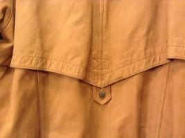 John Weitz Genuine Brown Old Fashioned Leather Jacket Sz L image 4