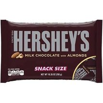 Hershey's Milk Chocolate Bars with Almonds, Snack Size, 10.35-Ounce Bag ... - $23.51
