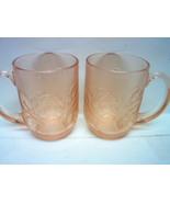 ARCOROC of FRANCE PINK COCOA-COFFEE MUGS - $15.00