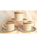 6 PC Villeroy & Boch PERPIGNAN Cups & Saucers Germany Porcelain anno 1748 - $27.95