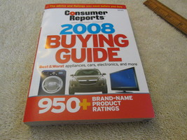 Consumer Reports Buying Guide 2008 - $3.99