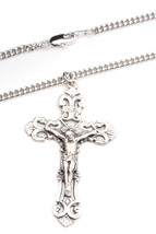 Bliss Men's Sterling Silver Crucifix Pendant Necklace  - $63.00