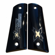 Colt 1911 FS grips made of black PMMA Acrylic and custom logo made of si... - $145.00