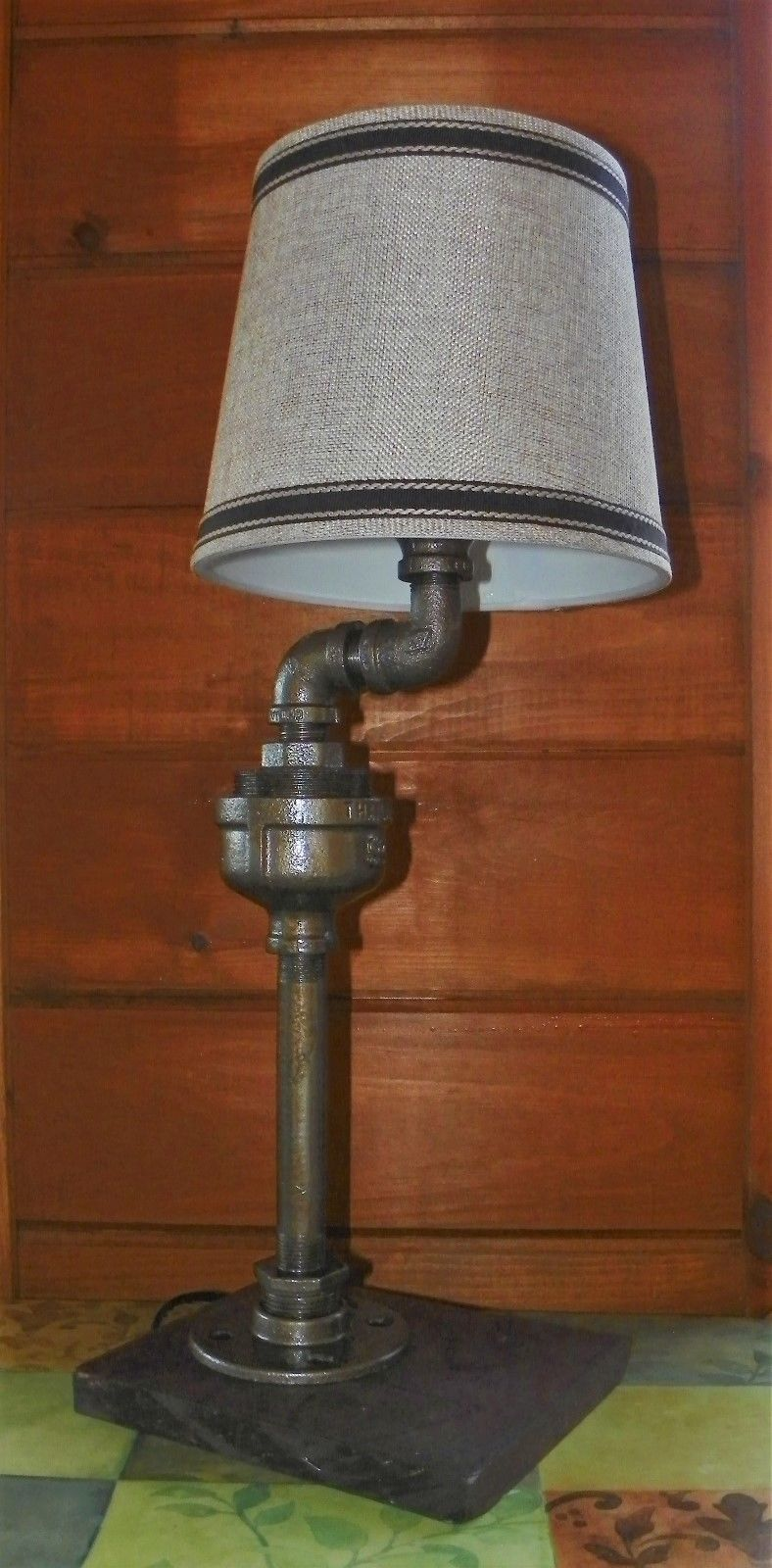 retro industrial vintage steampunk waterspout style lamp. Black Bedroom Furniture Sets. Home Design Ideas