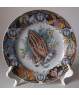 Vintage Praying Hands Plate Porcelain Religious... - $24.98