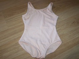 Girls Size Small Solid Light Pink Peach Capezio Dance Gymnastics Leotard EUC - $15.00