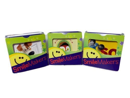 Primary image for Smile Maker Stickers 3 Boxes Sheriff Callie Smurfs Secret Life of Pets Square
