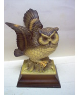 CERAMIC OWL FIGURINE  MARKED   H.K. JAPAN - $26.00