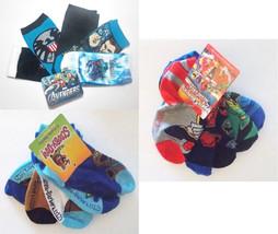 Character Toddler Boys Socks 5pk Avengers Scooby Power Rangers Size 6-8.... - $7.14