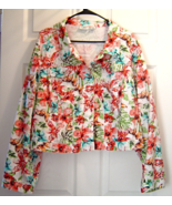 Cato Women Tropical Flowers and Butterfly Cotto... - $24.99