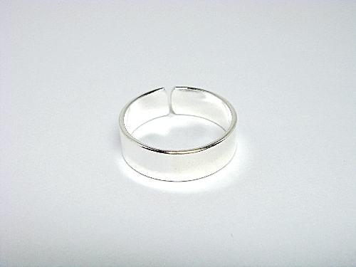 Sterling Silver Classic Band Adjustable Toe Ring