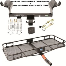 2013-2017 Ford Escape Trailer Hitch + Cargo Basket Carrier + Silent Pin Lock Tow - $344.47
