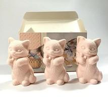 "Vintage 1987 AVON Kitty Trio Soaps Cat Soap Figures 2 3/8"" Kitten Collec... - $6.76"
