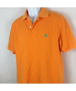 Brooks Brothers 346 Polo Shirt Size Small, Orange Green Makers Embroider... - $12.99