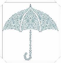 Under The Rain umbrella cross stitch chart Alessandra Adelaide Needleworks - $16.75