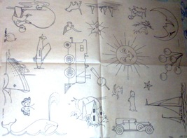 1930's Boy's / Child's - Nursery transfer embroider ORG (13) - $10.00