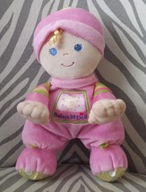 Fisher Price Doll Baby Girl Baby's First Pink Plush Stuffed Toy Lovey Ra... - $29.69