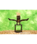 Primitive Tribal Statue Gymnastic Handstand On The Beam Wooden Hand Carv... - $19.38