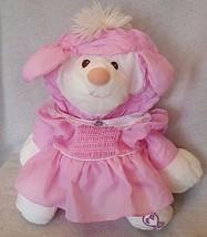 Vintage Puffalump Fisher Price 1986 Lamb Sheep Pink Dress 8005 Puffalump... - $49.49