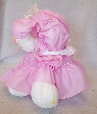 Vintage Puffalump Fisher Price 1986 Lamb Sheep Pink Dress 8005 Puffalumps 15""
