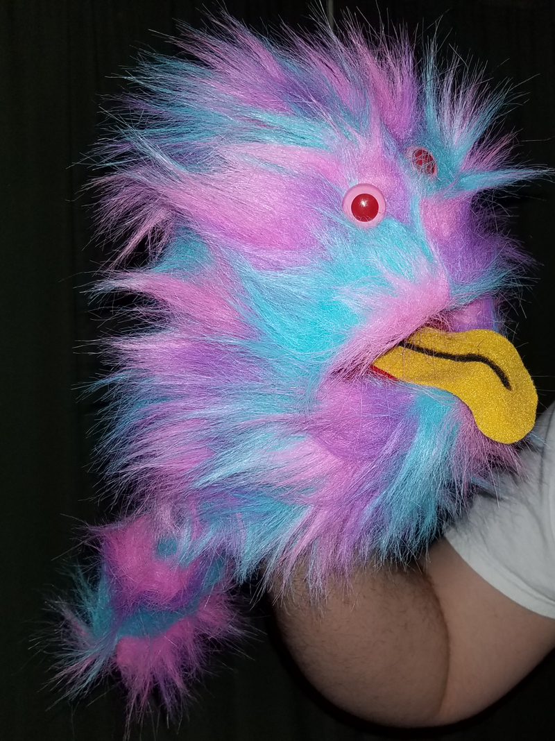 "Professional Rainbow ""FurGoblin"" Tongue Muppet Style Ventriloquist Puppet * B6"