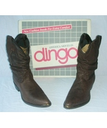 Dingo Leather Men's Boots  Embossed Brown Size 14D - $45.00
