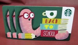 Lot of 3 Starbucks 2018 BACK TO SCHOOL Gift Cards New with Tags - $6.90